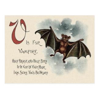 Flying Silly Goofy Vampire Bat Postcard