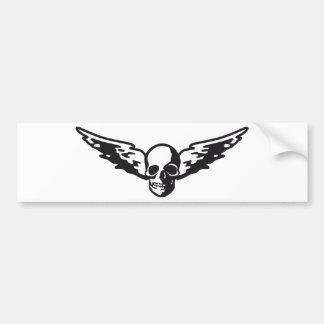 flying skull bumper sticker