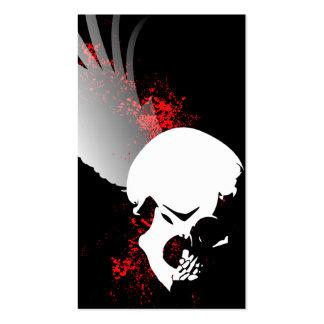 flying skull business card