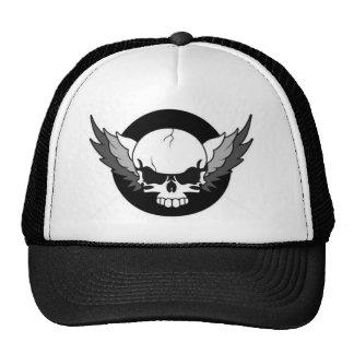 FLYING SKULL TRUCKER HAT