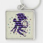 Flying Skull Monkey Keychain