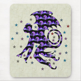 Flying Skull Monkey Mouse Pad