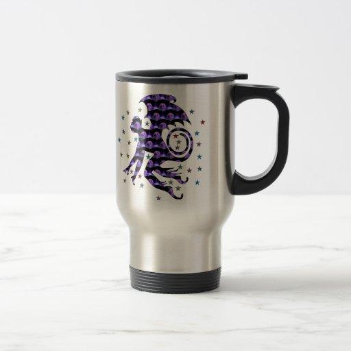 Flying Skull Monkey 15 Oz Stainless Steel Travel Mug