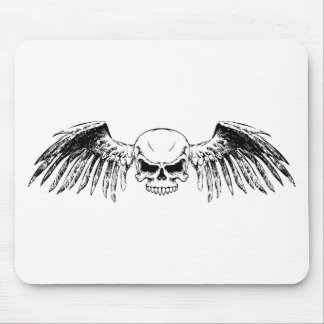 Flying Skull Mouse Pad