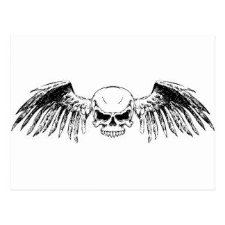 Flying Skull Postcard
