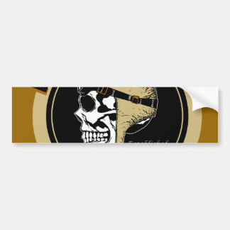 Flying Skullz Aces High Airborne Paratrooper Skull Bumper Sticker