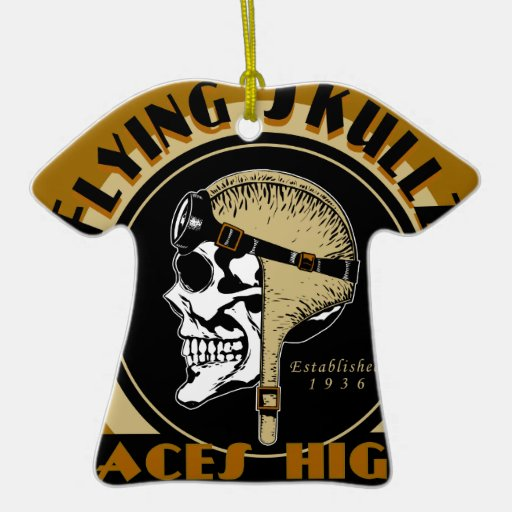 Flying Skullz Aces High Airborne Paratrooper Skull Christmas Tree Ornaments