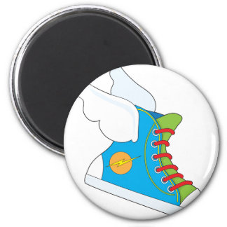 Flying Sneaker 2 Inch Round Magnet
