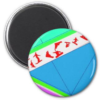 Flying Snowboards Magnet