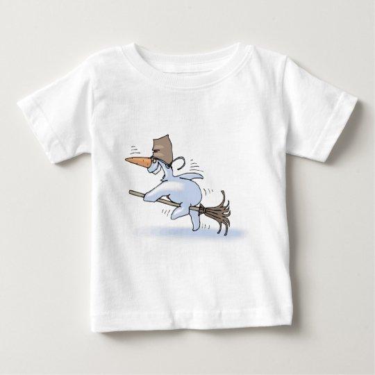 Flying Snowman Baby T-Shirt