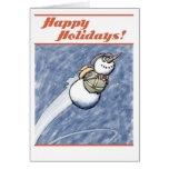 Flying Snowman Christmas Card