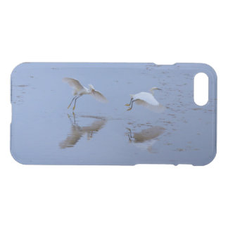 Flying Snowy Egrets Herons over Water iPhone 8/7 Case