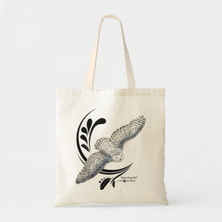 Flying Snowy Owl Budget Tote Bag