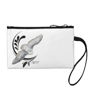 Flying Snowy Owl Coin Wallet