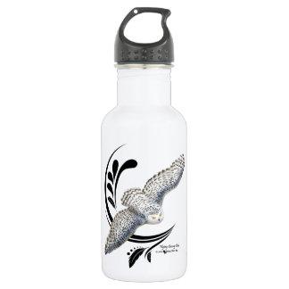 Flying Snowy Owl Water Bottle