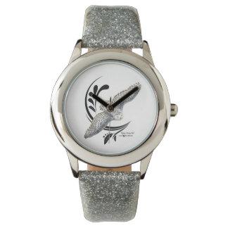 Flying Snowy Owl Wristwatches