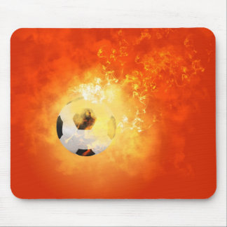 Flying soccer mouse pads