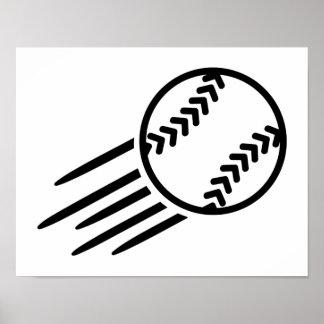 Flying Softball Poster