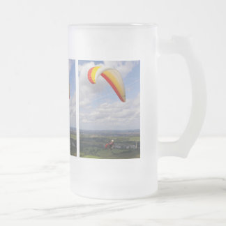 Flying Solo Frosted Glass Beer Mug