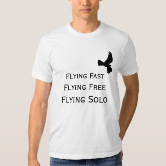 Flying Solo with Bird Silhouette (Men's) T Shirt