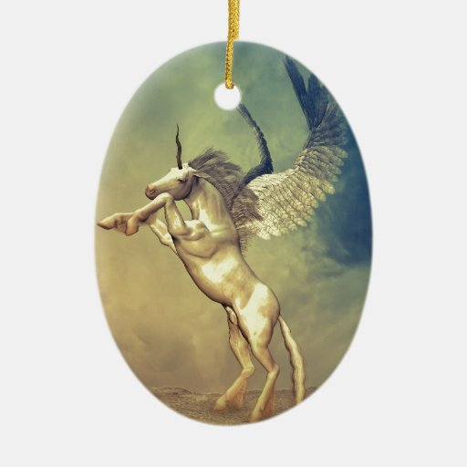 Flying Soul II Double-Sided Oval Ceramic Christmas Ornament