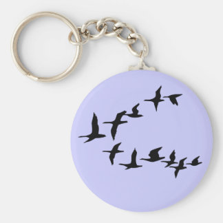 Flying South Geese Keychain