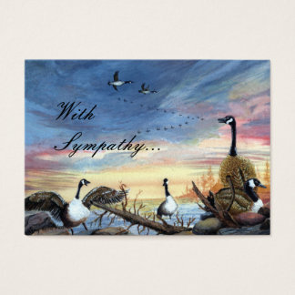 Flying South painting, With Sympathy... Business Card