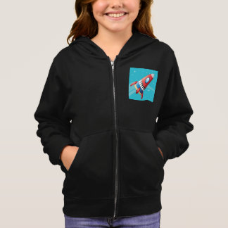 Flying Spaceship Girls Hoodie