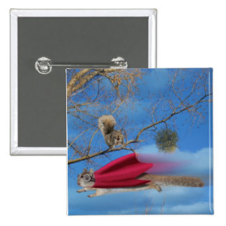 flying squirrel 2 inch square button