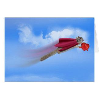 Flying Squirrel & Candy Card