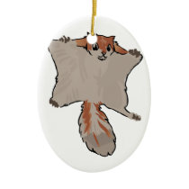 Flying Squirrel Ceramic Ornament