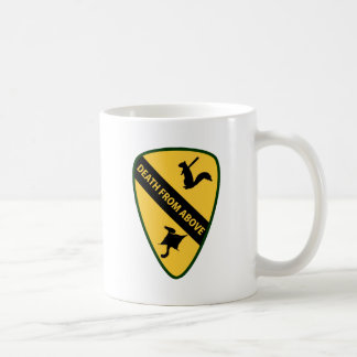 Flying Squirrel First Air Cavalry Insignia Classic White Coffee Mug