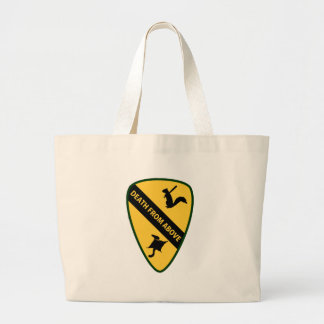 Flying Squirrel First Air Cavalry Insignia Large Tote Bag