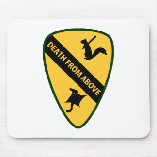 Flying Squirrel First Air Cavalry Insignia Mouse Pad
