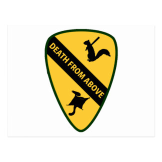 Flying Squirrel First Air Cavalry Insignia Postcard
