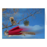 flying squirrel greeting card