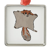 Flying Squirrel Metal Ornament