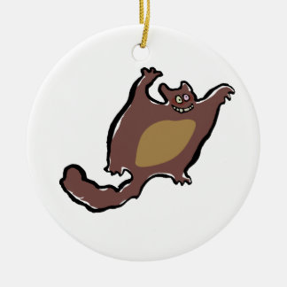 flying squirrel christmas tree ornament