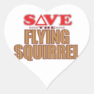 Flying Squirrel Save Heart Sticker