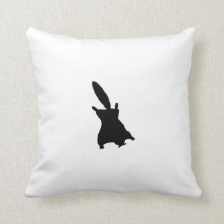Flying Squirrel Silhouette Pillows