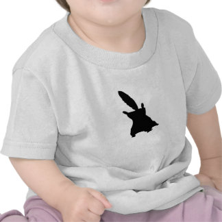 Flying Squirrel Silhouette T Shirts