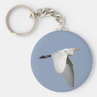 Flying stork basic round button keychain