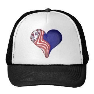 Flying Stripes Heart Trucker Hat