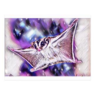 Flying Sugar Glider Postcard