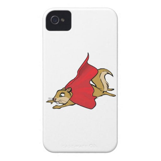 Flying Super Squirrel Case-Mate iPhone 4 Cases
