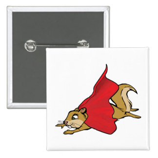 Flying Super Squirrel Pinback Button