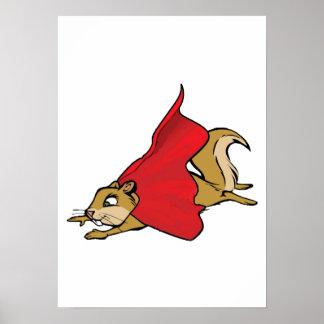 Flying Super Squirrel Poster