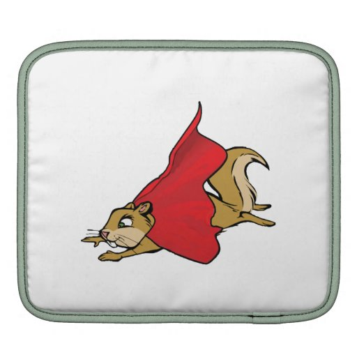 Flying Super Squirrel Sleeve For iPads
