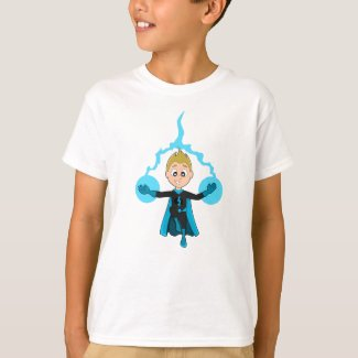 Flying superhero boy cartoon T-Shirt