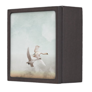 Flying Swans Jewelry Box